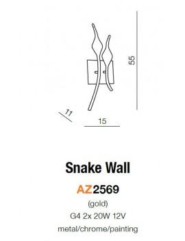 Kinkiet - SNAKE WALL AZ0046 CHROM - Azzardo