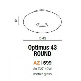 Szklany plafon - OPTIMUS 43 ROUND AZ1599 - Azzardo