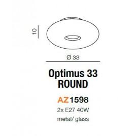 Okrągły plafon - OPTIMUS 33 ROUND AZ1598 - Azzardo
