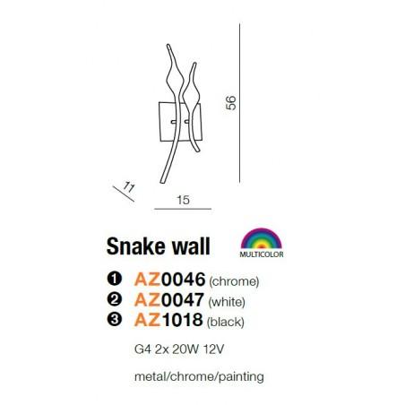 Kinkiet - SNAKE WALL AZ1018 CZARNY - Azzardo