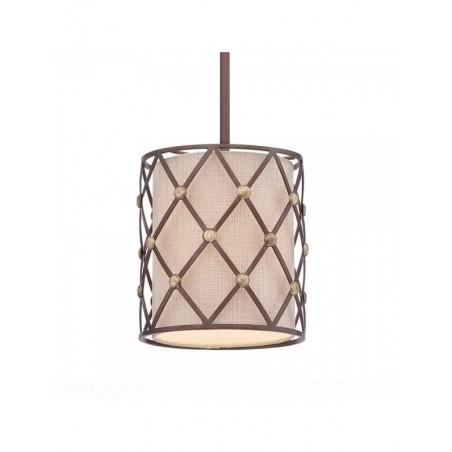 Mała lampa wisząca - QZ-BROWN-LATTICE-P-S - Quoizel