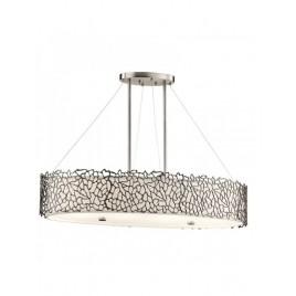Owalna lampa wisząca - KL-SILVER-CORAL-ISLE - Kichler