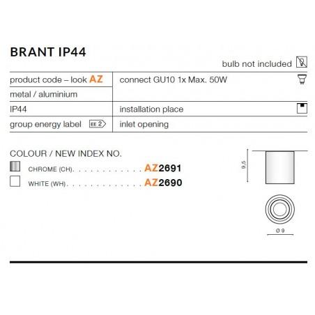 Plafon łazienkowy - BRANT AZ2691 CHROM - Azzardo