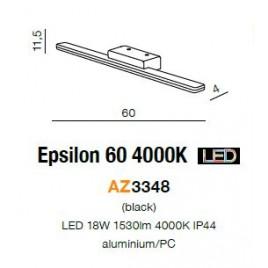 Efektowny kinkiet - EPSILON 60 4000K AZ3348 - Azzardo