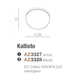 Plafon łazienkowy - KALLISTO AZ3328 CZARNY - Azzardo