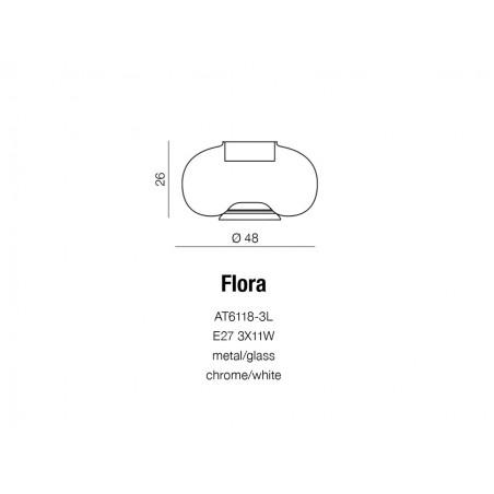 Oryginalna lampa stołowa - FLORA AZ0185 - Azzardo