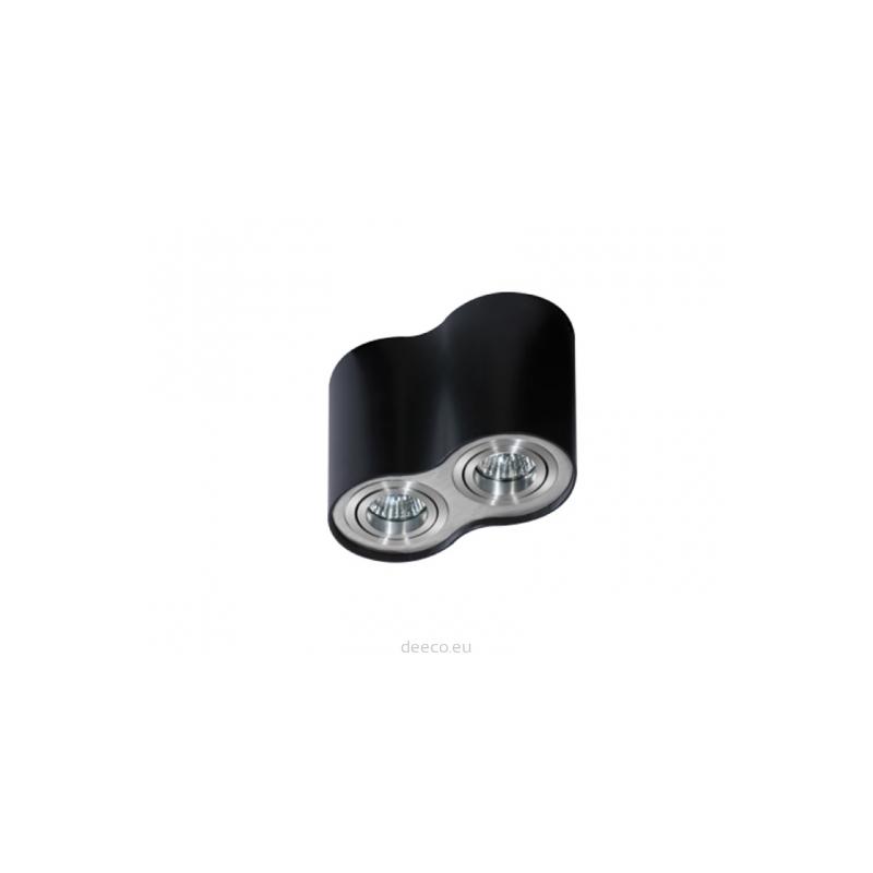 Nowoczesny plafon - BROSS 2 AZ0782 BK / ALU - Azzardo