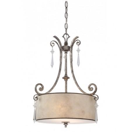 Interesująca lampa wisząca - QZ-KENDRA-P-B - Quoizel