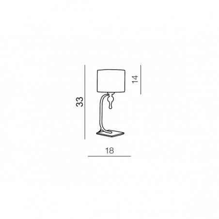 Lampa stołowa - IMPRESS TABLE AZ2903 BRĄZOWA - Azzardo