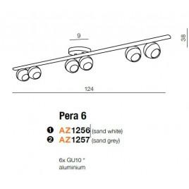 Lampa sufitowa - PERA 6 AZ1257 SZARA - Azzardo