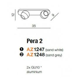 Niezwykła oprawa sufitowa - PERA 2 AZ1248 SZARA - Azzardo