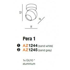 Nowoczesna oprawa sufitowa - PERA 1 AZ1245 SZARA - Azzardo