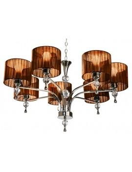 Interesująca lampa wisząca - IMPRESS 7 AZ2902 BRĄZOWA - Azzardo