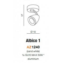 Pojedynczy reflektor - ALBICO 1 AZ1240 - Azzardo