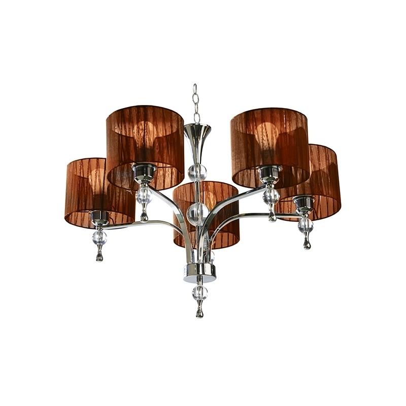 Urokliwa lampa wisząca - IMPRESS 5 AZ2901 BRĄZOWA - Azzardo