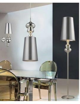 Zgrabna lampa wisząca - BAROCO 1 PENDANT AZ0307 SREBRNY - Azzardo