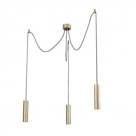 Niepowtarzalna lampa wisząca - LOCUS L PENDANT 3 AZ3404 SZAMPAŃSKA - Azzardo
