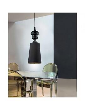Zgrabna lampa wisząca - BAROCO 1 PENDANT AZ0064 CZARNY - Azzardo