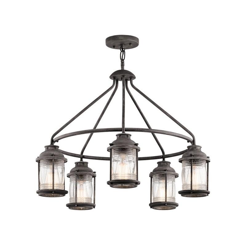 Duża lampa wisząca ogrodowa - KL-ASHLANDBAY-5P - Kichler