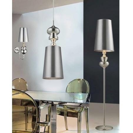 Luksusowa lampa stojąca - BAROCO FLOOR AZ0309 SREBRNA - Azzardo