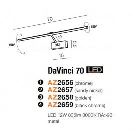 Praktyczna galeryjka - DAVINCI 70 AZ2657 NIKIEL - Azzardo