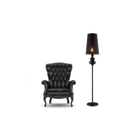 Luksusowa lampa stojąca - BAROCO FLOOR AZ0063 CZARNA - Azzardo