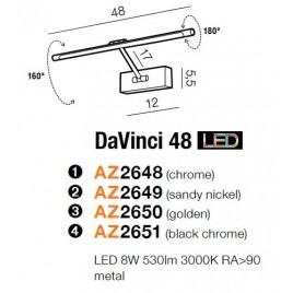 Funkcjonalna galeryjka - DAVINCI 48 AZ2650 ZŁOTA - Azzardo
