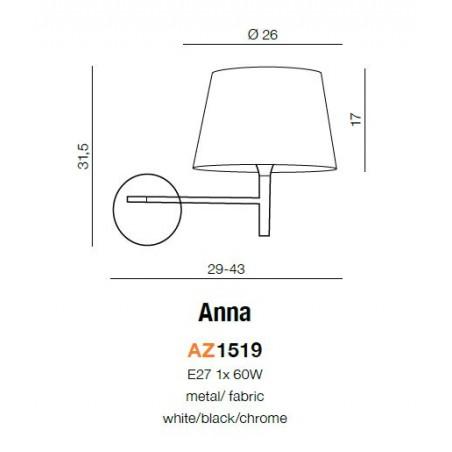 Ruchomy kinkiet - ANNA AZ1519 - Azzardo