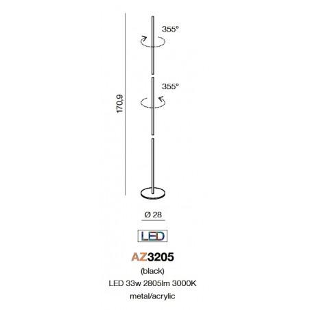 Niespotykana lampa stojąca - TETA AZ3205 - Azzardo