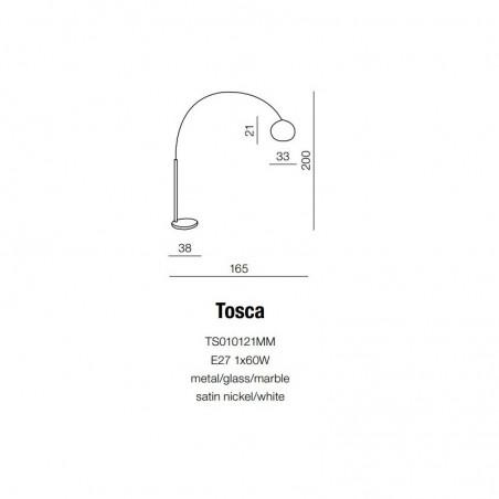 Czarująca lampa stojąca - TOSCA AZ0022 - Azzardo