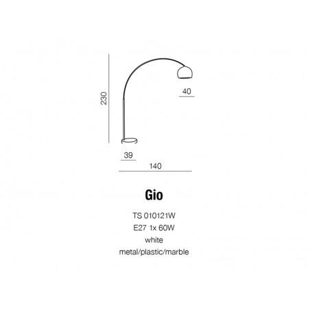 Atrakcyjna lampa stojąca - GIO AZ0016 - Azzardo