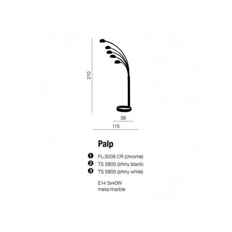 Nowoczesna lampa stojąca - PALP AZ1122 CHROM - Azzardo