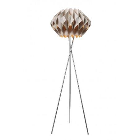 Niebanalna lampa stojąca - RUBEN FLOOR AZ2406 BEŻOWA - Azzardo