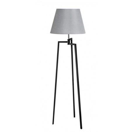 Nowatorska lampa stojąca - TRIPOD WOOD CONE AZ3013+AZ3672 SZARA - Azzardo