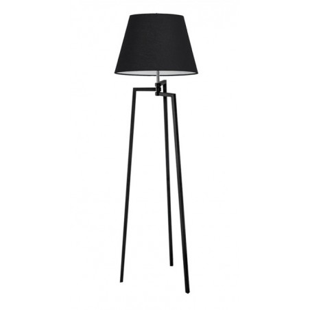 Nowatorska lampa stojąca - TRIPOD WOOD CONE AZ3013+AZ3670 CZARNA - Azzardo