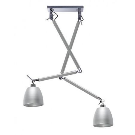 Nowoczesna lampa wisząca - ZYTA 2S PENDANT ALU AZ2301+AZ2594 ALUMINIUM - Azzardo