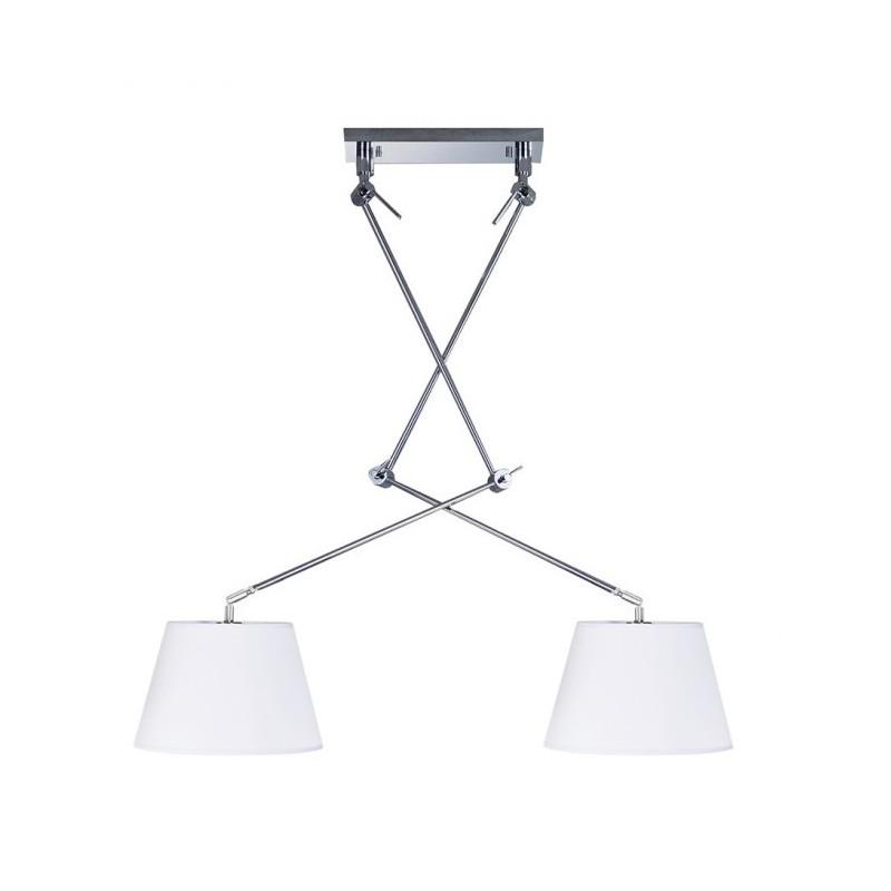 Niezwykła lampa wisząca - ADAM 2S AZ1842+AZ2588 BIAŁA - Azzardo