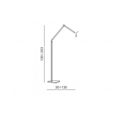 Nowoczesna lampa stojąca - ZYTA FLOOR AZ1849+AZ2596 ALUMINIUM - Azzardo