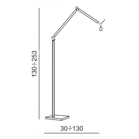 Nowoczesna lampa stojąca - ZYTA FLOOR AZ1849+AZ2603 CZARNA - Azzardo