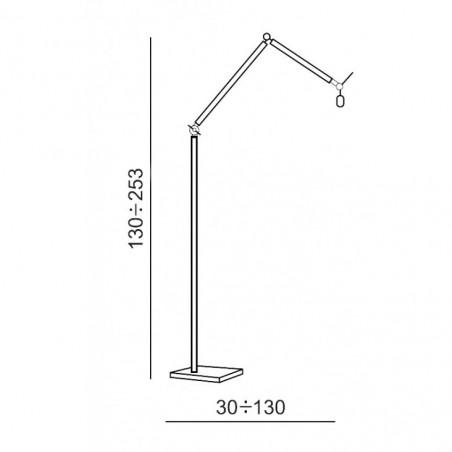 Nowoczesna lampa stojąca - ZYTA FLOOR AZ1849+AZ2604 SZARA - Azzardo