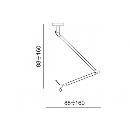 Funkcjonalna lampa wisząca - ZYTA M PENDANT AZ1847+AZ2603 CZARNA - Azzardo