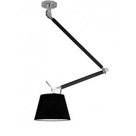 Niesztampowa lampa wisząca - ZYTA S PENDANT AZ1845+AZ2600 CZARNA - Azzardo