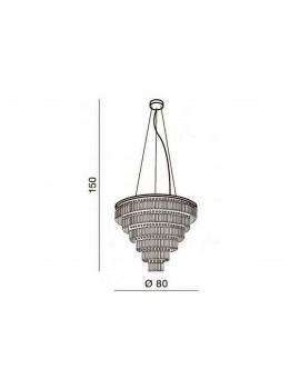Duża lampa wisząca kryształowa SALERNO XL AZ2927 - Azzardo