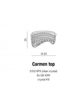 Plafon kryształowy CARMEN TOP AZ1284 - Azzardo