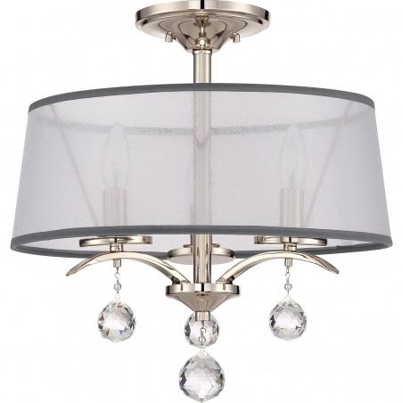 Klasyczna lampa wisząca/plafon - QZ-WHITNEY-SF - Quoizel