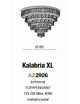 Duży plafon kryształowy KALABRIA XL AZ2926 - Azzardo