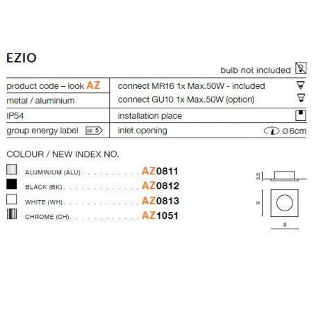 Oczko stropowe - EZIO AZ1051 CHROM - Azzardo