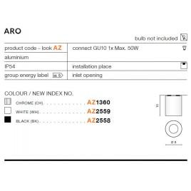 Oprawa architektoniczna - ARO AZ2558 CZARNY - Azzardo