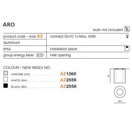 Oprawa architektoniczna - ARO AZ1360 CHROM - Azzardo